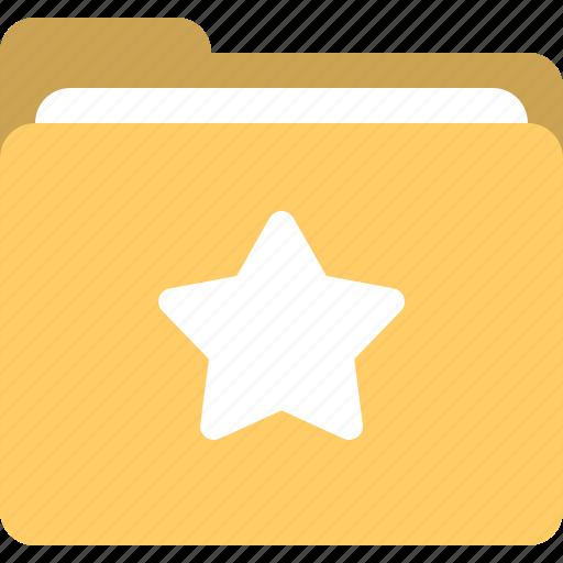 favorite, favorites folder, folder, star folder icon