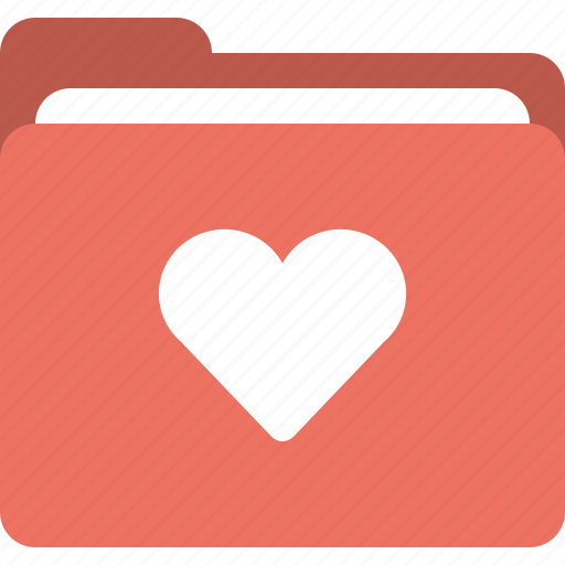 favorite folder, folder, heart, love folder icon