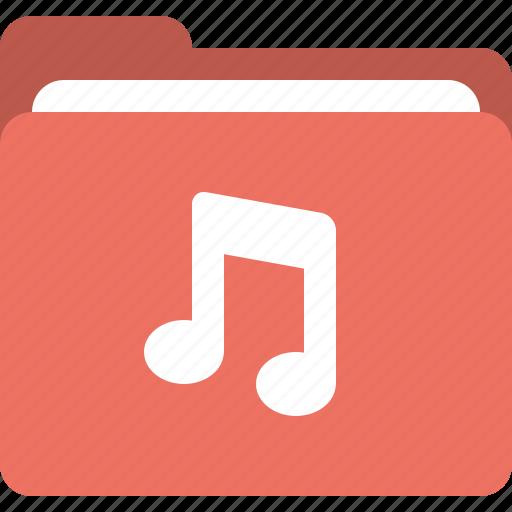 folder, media folder, music, sound folder icon