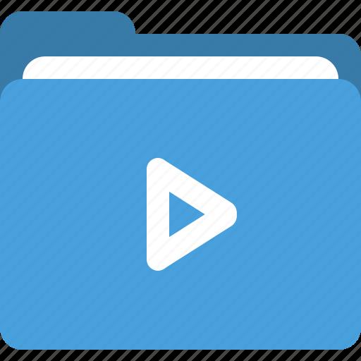 folder, media folder, play, video folder icon