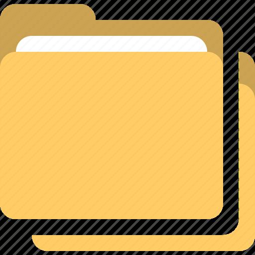folders, group folders, multiple folders, stack folders icon