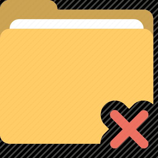 delete folder, error, folder, folder inaccessible icon