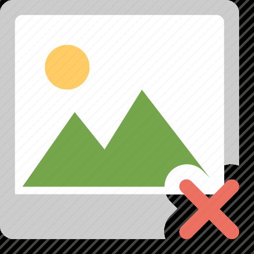 cancel photo, delete image, error, image, media icon