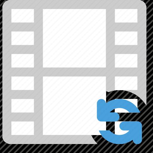 media, refresh, reload movie, video icon