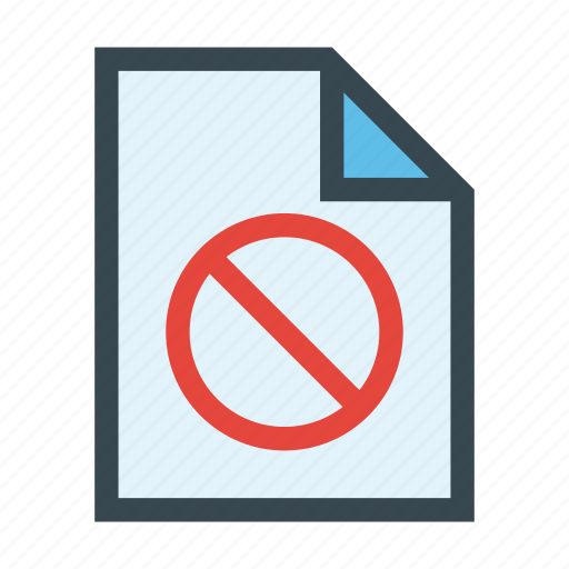access, denied, document, file, forbidden icon