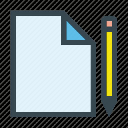 document, edit, file, paper, pencil, write icon