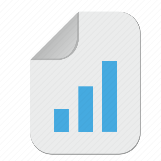 chart, document, file, paper, report icon