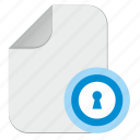 document, door, file, password, pin, slot icon