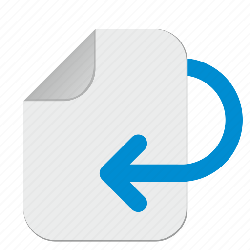 document, file, information, office, operation, revert icon