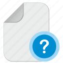doc, document, file, quest, question icon