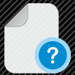 doc, document, file, quest, question icon