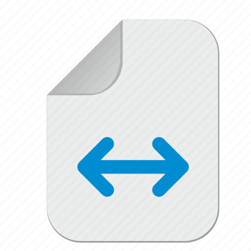 document, file, horizontal, move icon