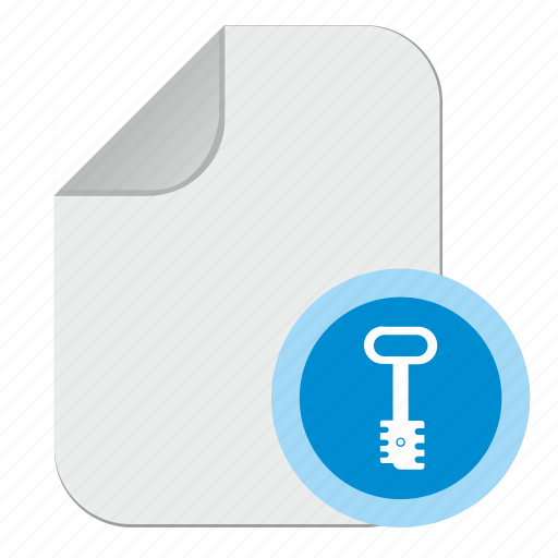 doc, document, file, key, paper, password icon