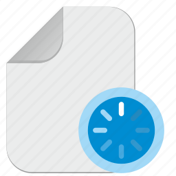 document, file, load, loading, process icon