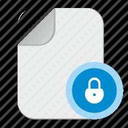 document, file, lock, password icon