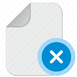 doc, document, file, multiply, paper icon