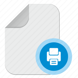 document, file, operation, print, printing icon