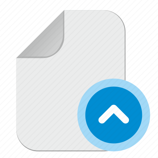 arrow, document, file, top, up icon