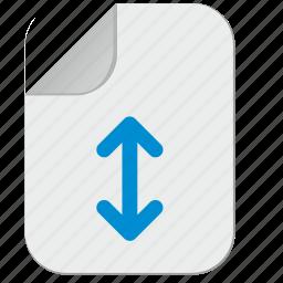 condition, document, file, move, vertical icon