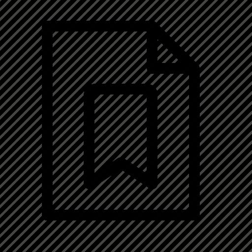 bookmark, doc, document, favorite, file, page, paper icon
