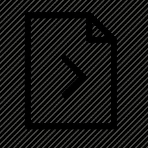 chevron, document, file, forward, next, page, right icon
