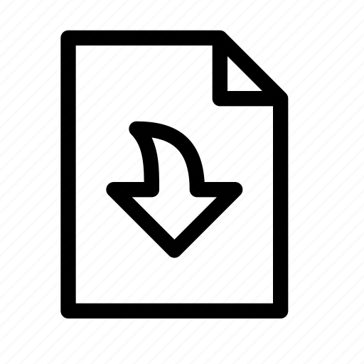archive, arrow, document, down, download, file, save icon