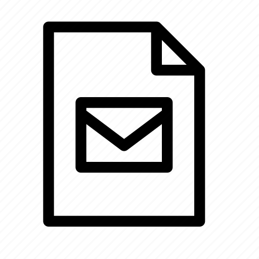 attachment, document, email, file, letter, mail, message icon
