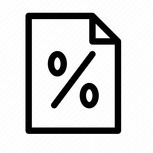 document, file, page, percent, percentage, statistics, stats icon
