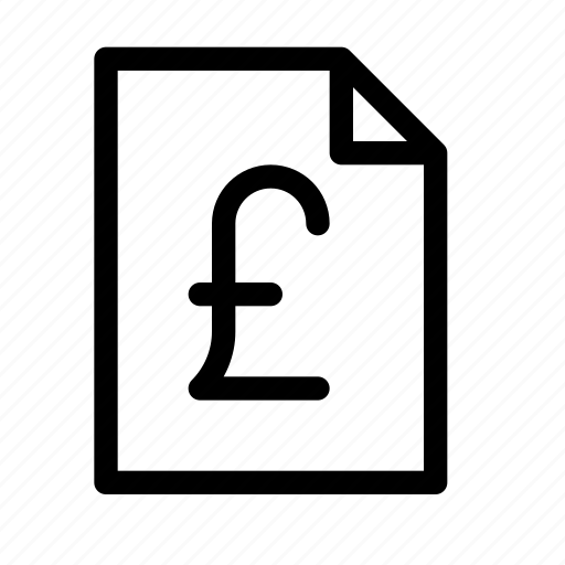 accounting, document, file, finance, money, pound icon