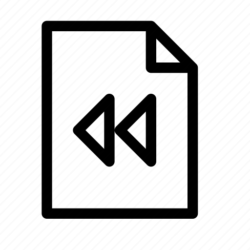 back, document, file, page, pagination, previous, rewind icon