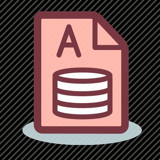 access, file, microsoft icon