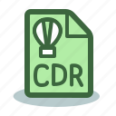 cdr, corel, corel draw, draw, file icon