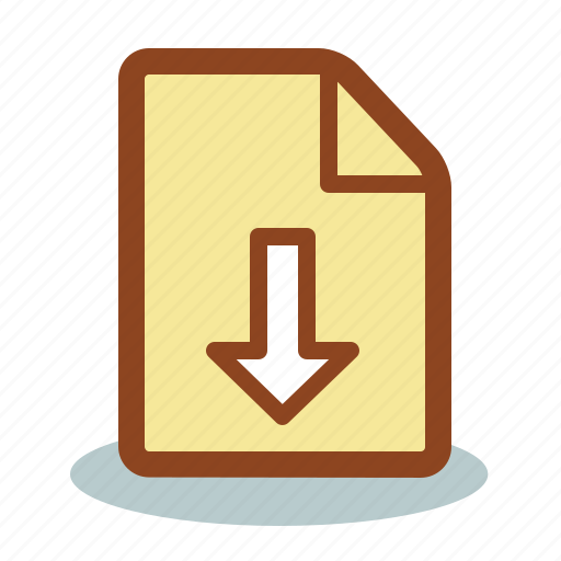 arrow, download, file, save icon