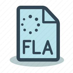 file, fla, flash icon