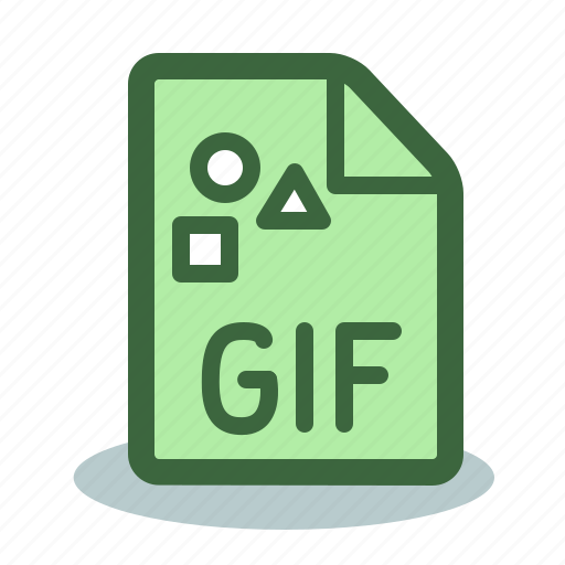 animation, file, format, gif icon