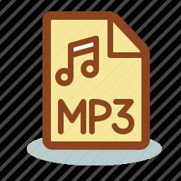 file, mp3, music icon