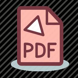 adobe, file, format, pdf, reader icon