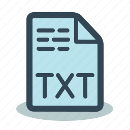 file, format, text, txt icon
