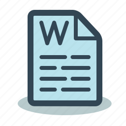 document, microsoft, text, word icon