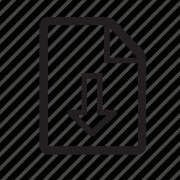 arrow, download, file, guardar, save icon