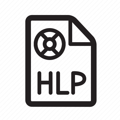 faq, help, hlp icon