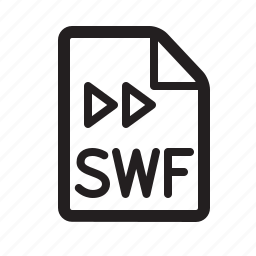 document, flash, swf icon