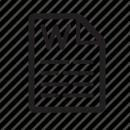document, microsoft, text, word icon