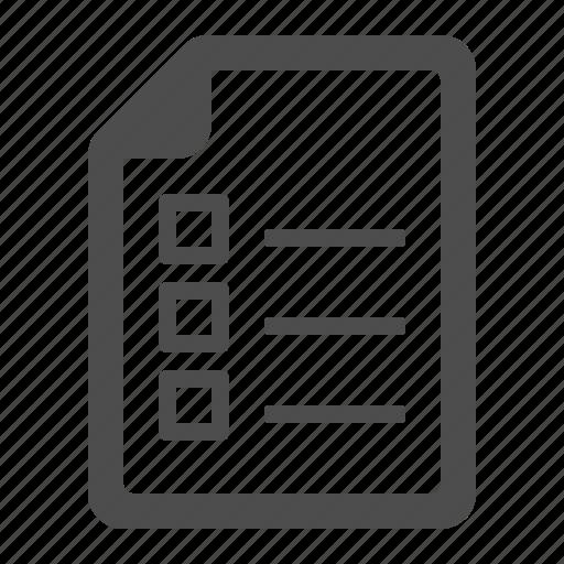 checklist, document, file, page icon