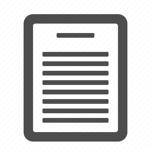 document, file, letter, page icon