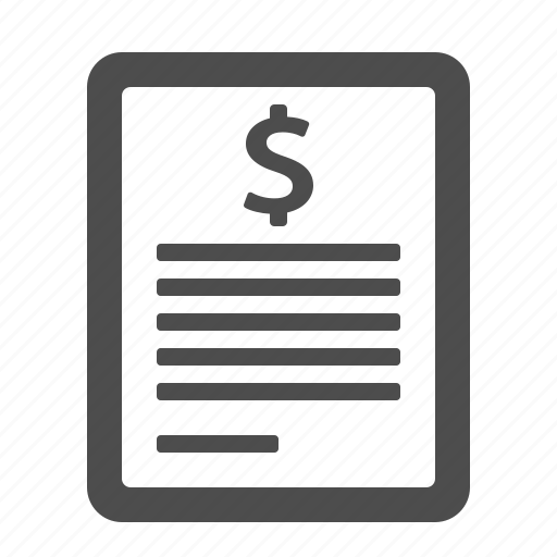bill, document, file, finance, money, page, taxes icon