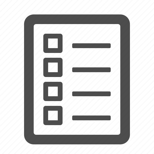 checklist, document, file, page icon