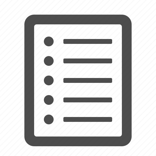 document, file, list, page icon
