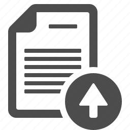 arrow, document, file, page, upload icon