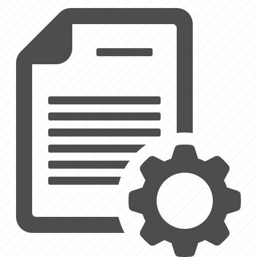cog, document, file, gear, optimise, page, settings icon